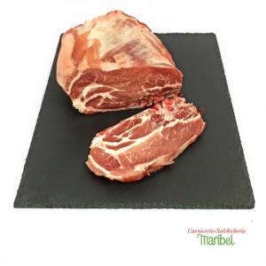 Chuleta de aguja de cerdo fresco
